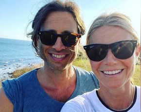 Gwyneth Paltrow and Brad Falchuk Enjoy a Beach Day as They Celebrate First Wedding Anniversary