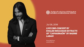 FUNDRAISING EVENT  LIVE CINE-CONCERT BY KHALED MOUZANAR  EXTRACTS OF