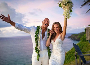 Dwayne Johnson shares pictures of his Hawaiian wedding with Lauren Hashian that prove the ceremony was nothing short of a fairy tale