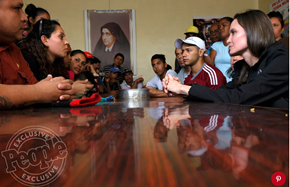 Angelina Jolie Gets Blessing as She Visits Peru to Meet 'Brave' Displaced Venezuelan Refugees